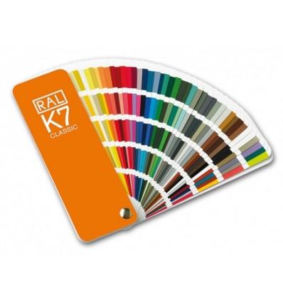 RAL K7 spalvų paletė