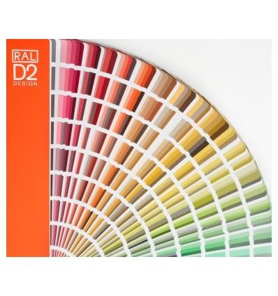 RAL D2 spalvų paletė